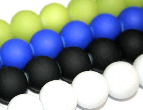 14mm Rubber coated glass beads